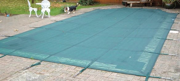 Deluxe Criss-Cross Pool Winter Debris Cover Inc Fixings and Roman End