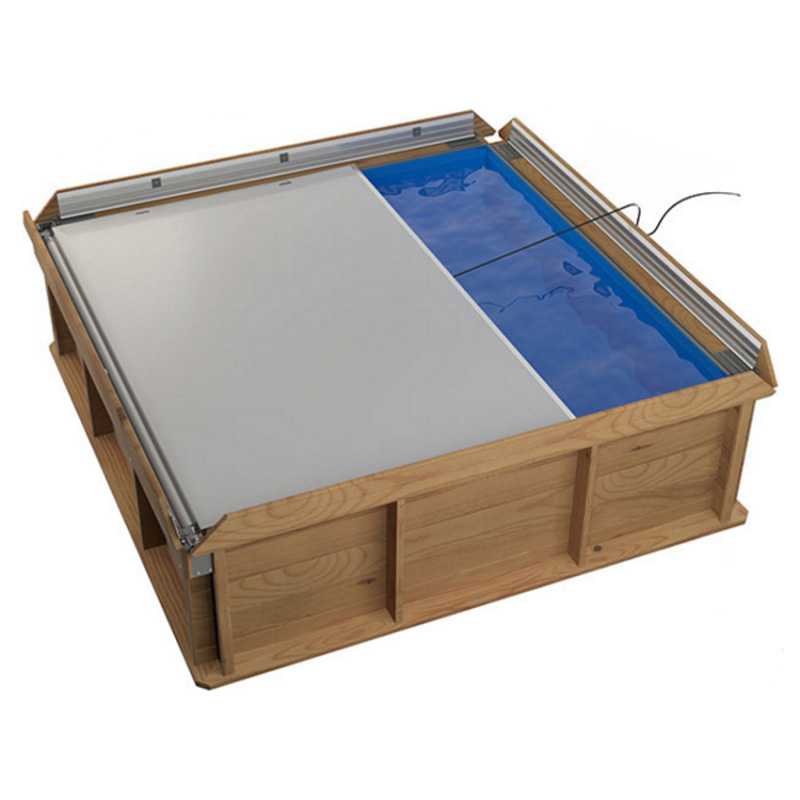 Pistoche 2m x 2m Wooden Pool with Cover and Filter