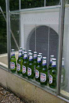 Duratech Dura 17 pool heat pump cooling beer!