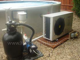 Dura 7 Heat Pump on above ground pool