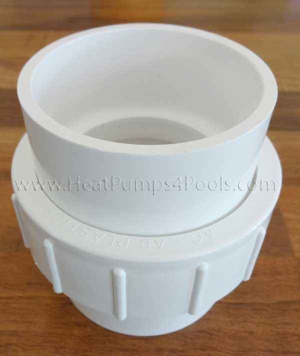 "Aquacal Heat Pump White PVC 2"" Union Coupler PLS2627"