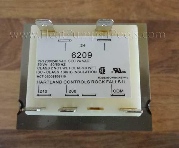 Aquacal Heat Pump Transformer ECS6209 50VA, 24 Volt [Aquacal