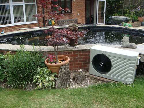 Dura plus heat pump on koi pond