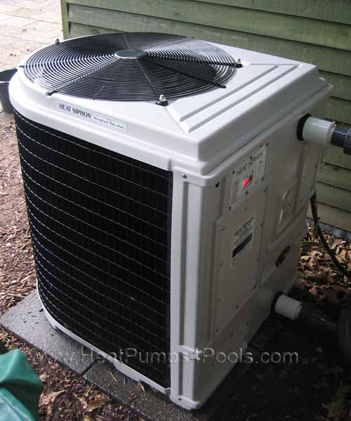 heat siphon swimming pool heat pump heater installation