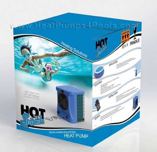 hot splash pool heat pump BOX