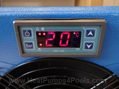 hot splash pool heat pump controls