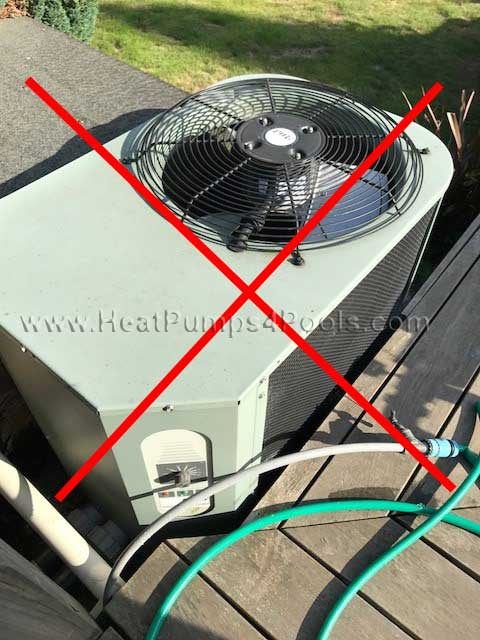 insufficient heat pump clearance pic2