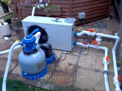 Installation service heatpumps4pools for Pool heater and filter