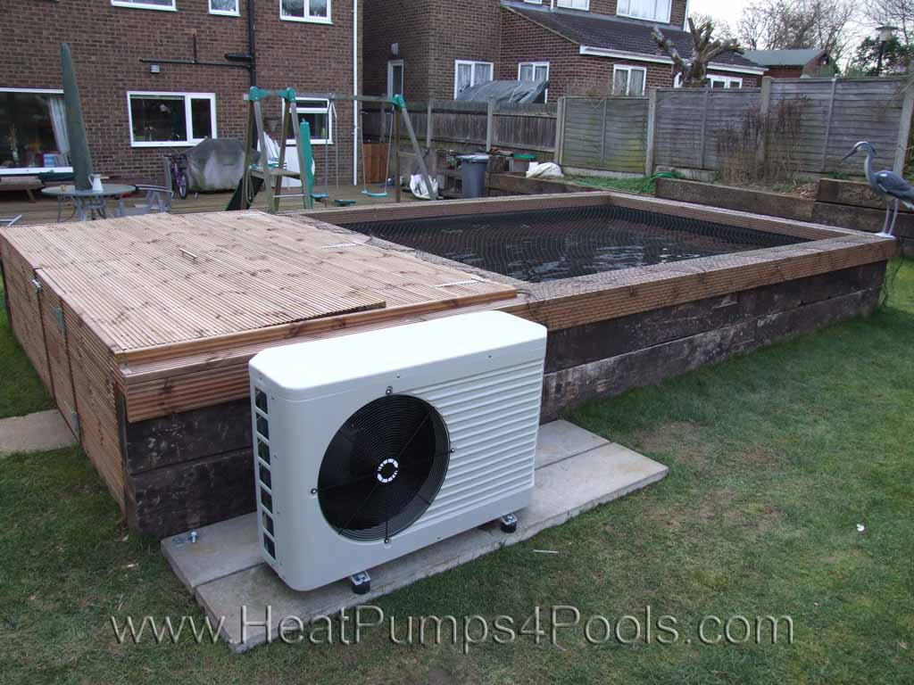 Koi pond heating with a heat pump for Koi pool heaters