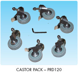 Plastica roller optional castor pack