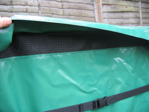 heat pump cover breathable vents