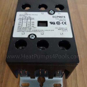 Aquacal Heat Pump Contactor ECP0074 50A, 24 Volt