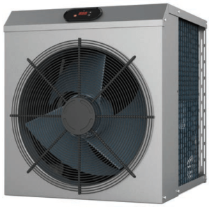 Poolstyle mini heat pump for swimming pools