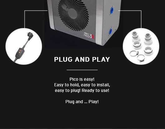 Pico Reversible Heat Pump 4kw plug and play